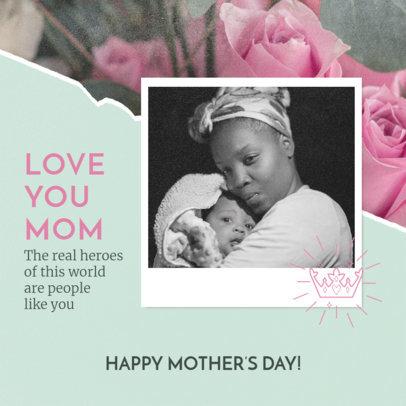 Instagram Post Design Maker to Celebrate Mother's Day 3980
