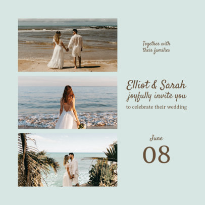Wedding-Themed Instagram Post Design Maker for Soon-to-Be-Married Couples 3646c-el1