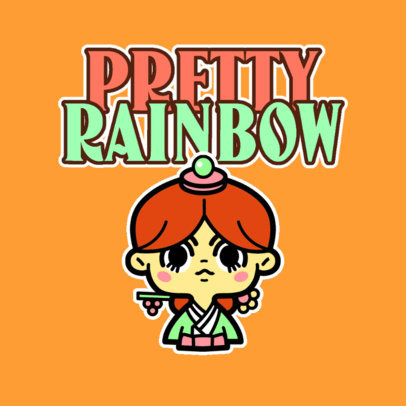 Online Logo Maker for a Kids Apparel Store with a Kawaii Cartoon 4146b