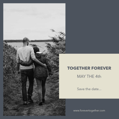 Instagram Post Generator for a Soon-To-Be-Married Couple 3640b-el1