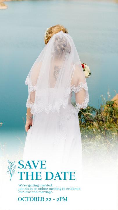 Instagram Story Creator for a Virtual Wedding Ceremony 3636c-el1