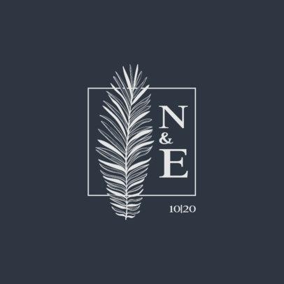 Online Logo Creator for a Wedding Monogram Featuring a Palm Leaf 3654b-el1