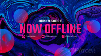 Twitch Offline Screen Video Template with a Liquid-Texture Background 2662