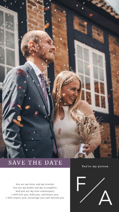Wedding-Themed Instagram Story Maker with Pictures and Quotes 3628b-el1