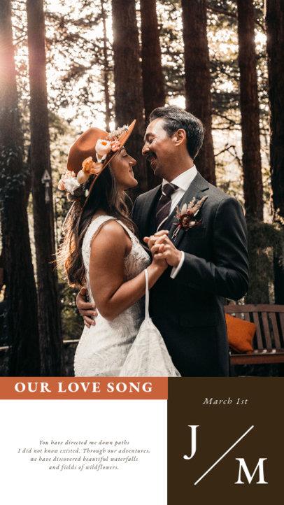 Instagram Story Design Generator to Announce a Wedding Date 3628e-el1