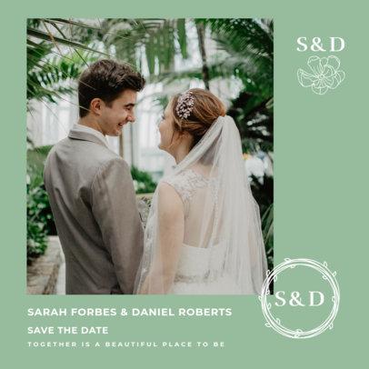 Wedding-Themed Instagram Post Generator with a Minimalistic Layout 3638c-el1