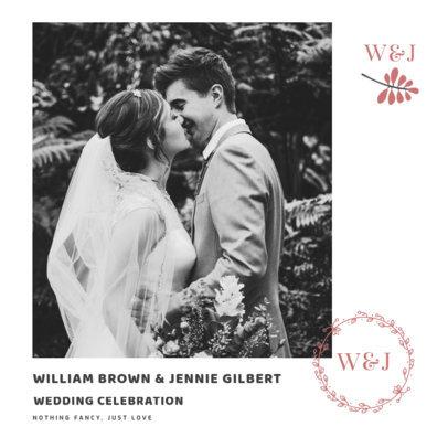 Elegant Instagram Post Template for a Wedding Celebration 3638d-el1