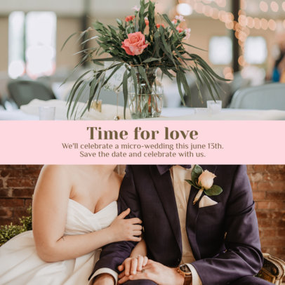 Instagram Post Maker to Announce a Sweet Micro-Wedding 3642d-el1
