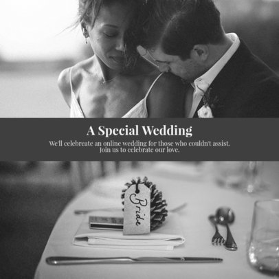 Instagram Post Creator to Invite People to an Online Wedding Event 3642e-el1