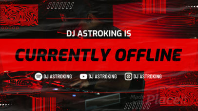 Twitch Offline Screen Video Template for DJ Streamers 2657