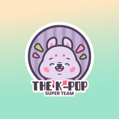 Cute Logo Generator for K-Pop Fans Featuring a Happy Character Graphic 4144c