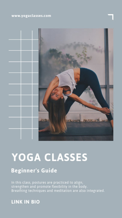 Instagram Story Generator to Announce a Yoga Class for Beginners 3610c-el1