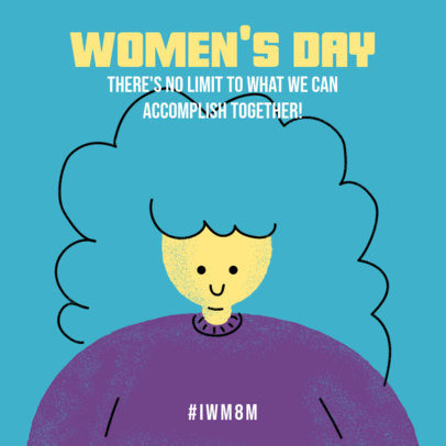Illustrated Instagram Post Template Featuring Women's Day Quotes 3486f