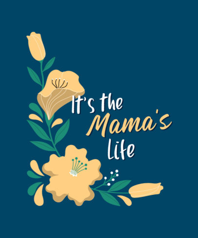 Mother's Day T-Shirt Design Creator with a Floral Graphic 3477b