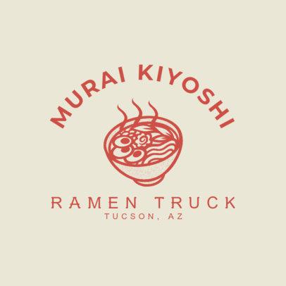 Food Truck Logo Generator for Japanese Ramen 1213i-4138