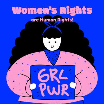 Feminist Instagram Post Design Template for Women's Day 3486i