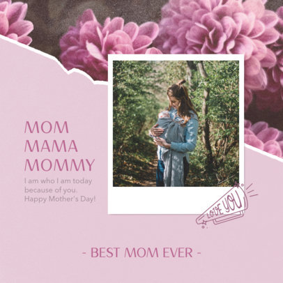 Instagram Post Design Creator with a Mother's Day Quote 3980a