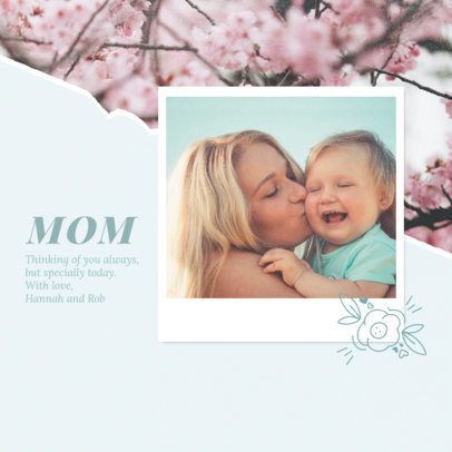 Mother's Day Instagram Post Design Template Featuring an Inspiring Quote 3980e