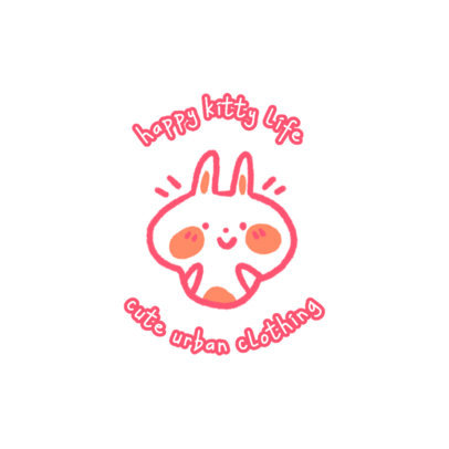 Kid's Apparel Logo Template Featuring a Cute Bunny Illustration 4140d
