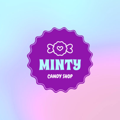 Logo Template for Candy Shops Featuring a Colorful Aesthetic 1389e-4136