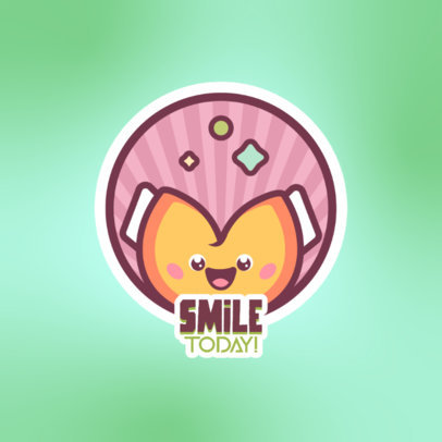 Logo Template Featuring a Kawaii Fortune Cookie Cartoon 4144g