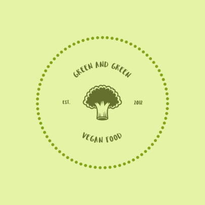 Logo Maker for a Vegan Restaurant Featuring a Broccoli Clipart 4135c