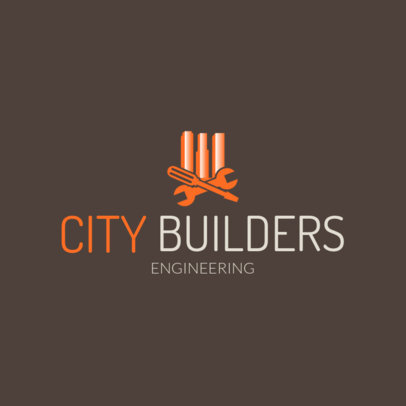 Civil Engineer Corporation Logo Maker 1211b-4137