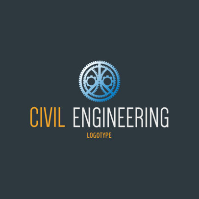 Civil Engineering Logo Maker with a Gear-Themed Graphic 1211f-4137