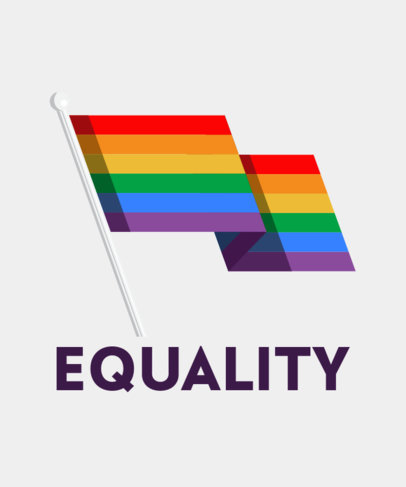 LGBTQ T-Shirt Design Generator Featuring a Rainbow Flag Graphic 29c