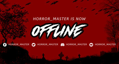 Twitch Banner Design Template with Horror-Themed Backgrounds 3492