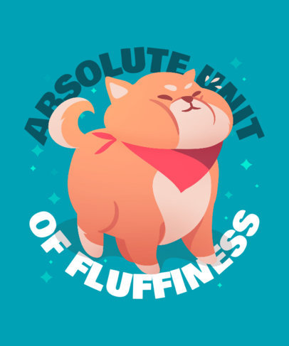 Fun T-Shirt Design Templates with Graphics of Chubby Animals 3496