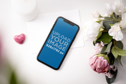Mockup of an iPhone 11 Placed by Valentine's Day Gifts 5150-el1