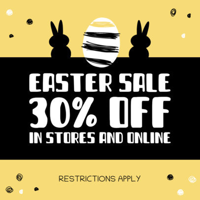 Cute Instagram Post Creator for a Special Easter Sale 3689a-el1