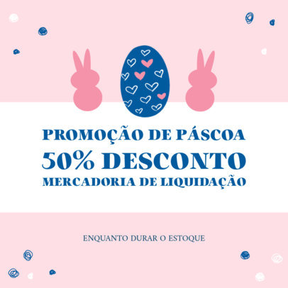 Easter-Themed Instagram Post Maker with a Portuguese Sale Info 3689b-el1