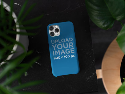 Mockup of a Phone Case Surrounded by Plants 5177-el1
