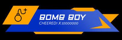 Twitch Alert Box Design Maker Featuring a Bomb Icon 3701a-el1