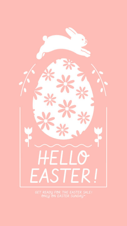 Minimalistic Instagram Story Creator Announcing an Easter Sale 3693e-el1