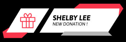 Twitch Alert Box Maker for a New Donation Notification with a Gift Icon 3702d-el1