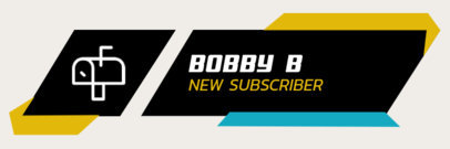 Twitch Alert Box Creator with a Mailbox Icon for a New Subscriber Notification 3702e-el1