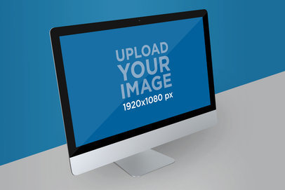Render Mockup of an iMac Placed in a Customizable Setting 5153-el1