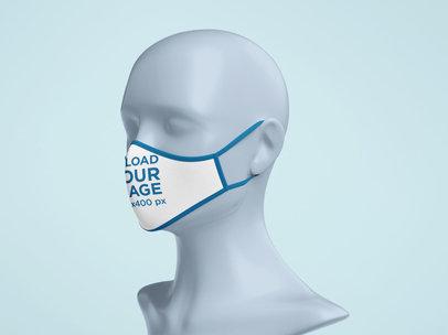 Mockup of a Face Mask on a Mannequin 5188-el1