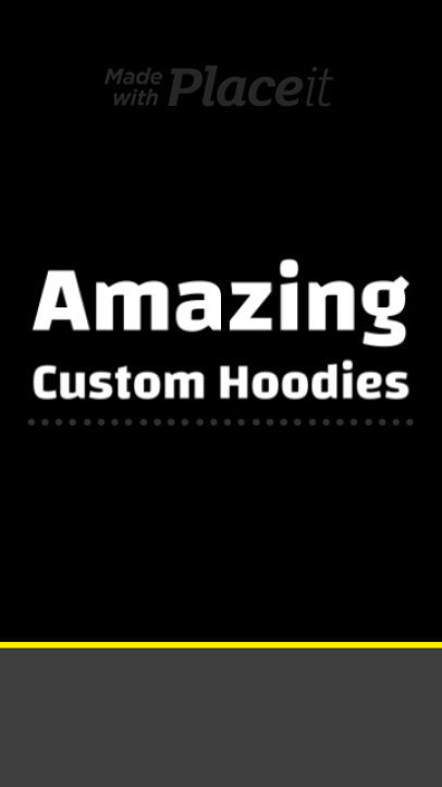 Instagram Story Video Template for a Custom Hoodie Store 1660c-3010