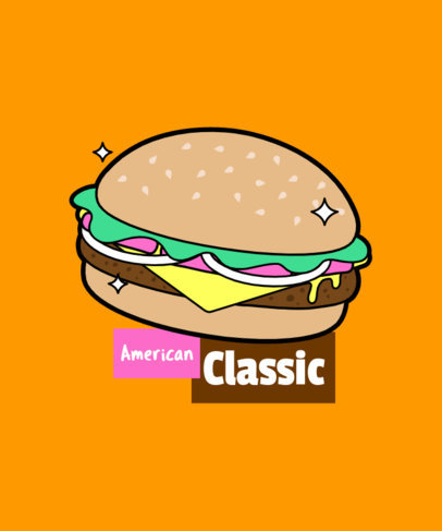 Hamburger T-Shirt Design Maker 6d