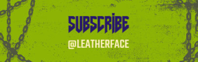 Twitch Panel Maker for a Subscribe Button Featuring a Spooky Typeface 3490a