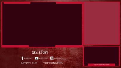 Twitch Overlay Design Template for Streamers Featuring a Horror Aesthetic 3493c