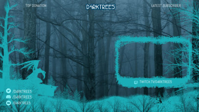Twitch Overlay Maker Featuring a Creepy Forest Graphic 3492a