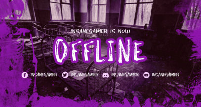 Spooky Twitch Offline Banner Design Generator with a Chilling Vibe 3492c