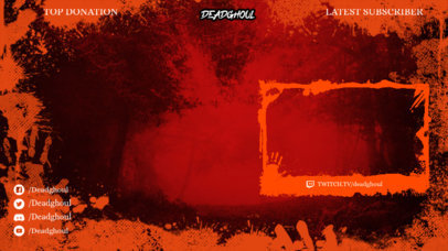Bloody Twitch Overlay Design Template 3492d