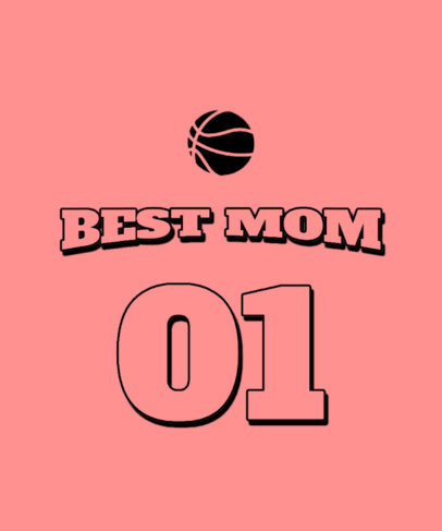 Sports-Themed T-Shirt Design Maker for Mothers Day 3514