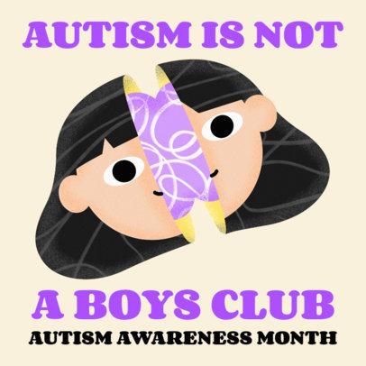 Illustrated Instagram Post Maker for Neurodiversity Awareness 3526